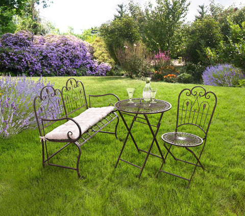Metal Folding Chair, Folding Garden Chair, Outdoor Furniture, Antique Garden,  Patio Chair