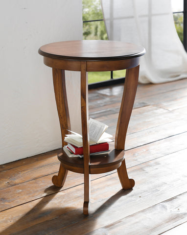 Side Table Round, Coffee Tea Round Pedestal Table Desk, Elegant Table Home Decoration