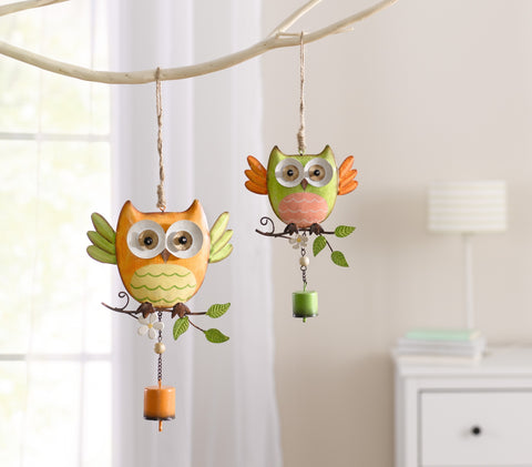 Metal Hanging Owl, Hanging Room decoration,