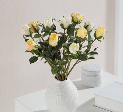Bouquet Rose, Artificial Plastic, Flower Bunch,