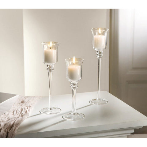 Table Glass Candle Holder set, Candle Stand Christmas Event Party Birthday Decoration Amazon