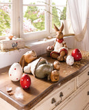 Amazing Easter Eggs and Bunny Decoration Idea, Polka Dot Eggs and Bunnies Couple Easter Decoration Set