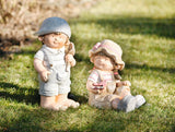 Dame Doll Decorative Garden, Cute Doll, Decorative Figure, Statue Decoration, Garden Decoration Ornament, Cute Sitting Figure