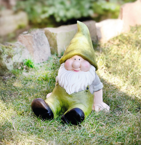 Happy Garden Gnome, alien gnome garden décor, Decorative Figure, Statue Decoration, Garden Decoration Ornament, Cute Sitting Figure
