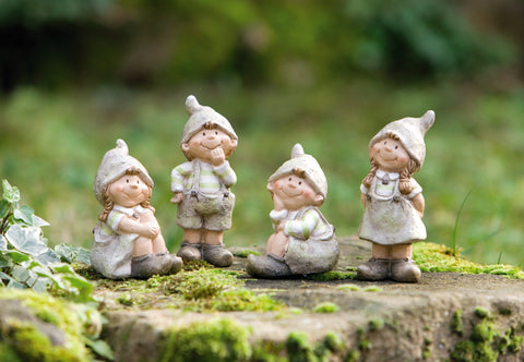 Dwarfs Figure Decoration, Gnome Statue, Garden Gnome, Outdoor Garden Decoration, Statue Decoration, Garden Decoration Ornament, Set of 4