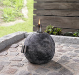 "Oil lamp, Oil Torch Garden, ""Dark Gray"", Patio Oil Torch, Lantern garden, Bowl Shape, Home decoration"