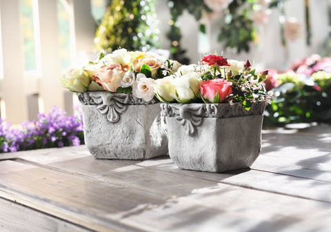 Square Planter Pot, Cemented Pot, Planter Pot, Garden Planter, Patio Pasture, Home Decoration, Flower Holder, Flower Pot Set of 2
