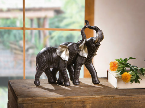 Elephant Couple Sculptures,
