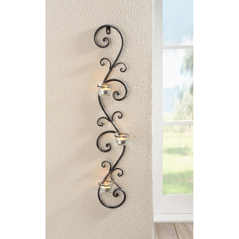 "Wall Metal Art, Wall Candle Holder, Tea Light Wall Hanger Stand Indoor Lighting Home Decoration Christmas Xmas Decoration Event Party Birthday Lighting Wall Candlestick in ""Tendrils"" Shape Candle"