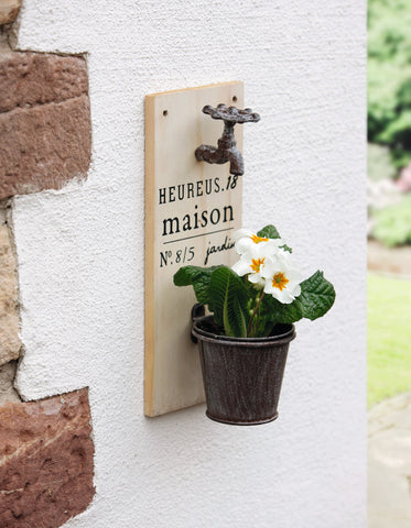 Wall planter, water tap, Flower Pot, Vase Hanging, Balcony flower hanger, Garden Planter, Home Decoration