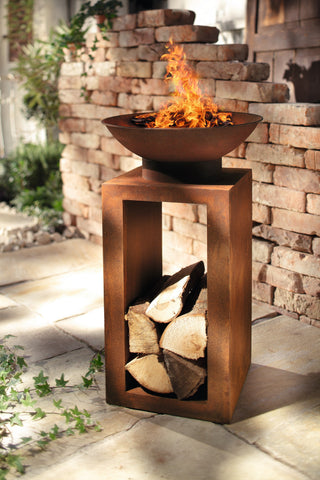 Fire Bowl, Fire scarf Rust optics, Patio Garden Bowl, Outdoor Camping, Patio Heater, Multi-Function Fire Pit, Outdoor Patio Heater, Garden Metal,