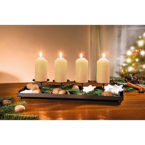 Candlestick Tray Candle Stand Candle Holder Home Decoration Christmas Xmas Decoration Event Party Birthday Lighting