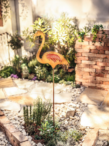 Metal Flamingo, Garden Ornament, Flamingo Statue, Metal Flamingo, Garden Animals Ornament, Statues Jungle, Metal Bird Statue, Ornament