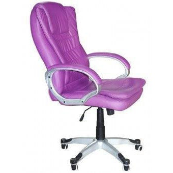 Luxury Chair Executive Chair Office Chair Boss Chair Swivel Leather Computer Desk Chair (Double Cushion Purple) eMarkooz(TM)