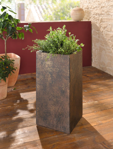 Stone Planter, Planting Column, Stone Planting Pot, Column Plant Stand, Gardening Pot, Garden Plant Holder, Home Decoration, Indoor Outdoor