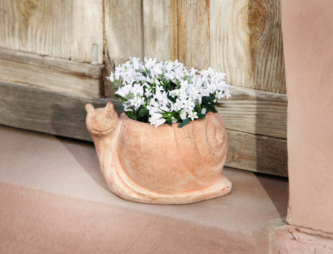 Terracotta Snail Shape Pot, Planter Flower Pot, Garden Pot Planter, Garden Pot, Indoor Outdoor Plantation