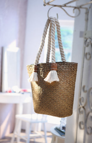 Straw Bag, Nature Straw Bag, Ornament, Pastoral Style Woven Straw, Beach Bag