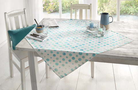 Table Runner with Blue Dots, Party Tablecloth, Polka Dot Spots, Casual Dining Essentials, Tablecloth, Picnic Table Cloth, Home Decoration