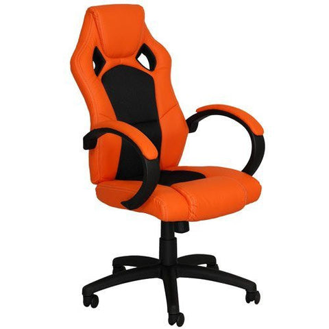Sports Racing Chair High Back Chair Designer Gaming Executive Swivel PU Computer Office Chair Orange and Black