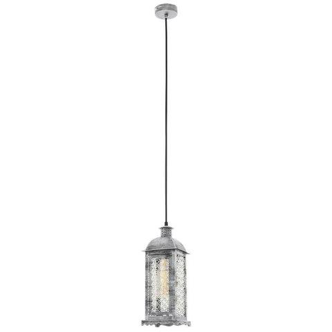 Antique Lantern Steel, Glass Ceiling Hanging Light Pendant Lamp Fixture Lighting Metal Chandelier Indoor Lighting Home Decoration 1L 103