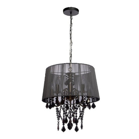 Ceiling Hanging Light, Modern Glass Fabric Metal Crystal Lamps, Pendant Lamp, Fixture Lighting, Chandelier