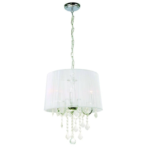 Ceiling Hanging Light Glass Fabric Metal Crystal Lamps Pendant Lamp Fixture Lighting Chandelier Metal Indoor Lighting Home Decoration Lighting 3L 1802