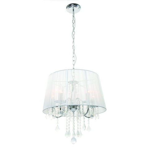 Ceiling Hanging Light Pendant Lamp Fixture Lighting Glass Fabric Metal Crystal Lamps Indoor Lighting Home Decoration Lighting Set 1802