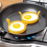 New 2 X Piece Silicone Silicon Egg Ring - Fry Fried Poacher Pancake Perfect Egg Ring Cookware Kitchen Tools and Gadgets eMarkooz(TM)