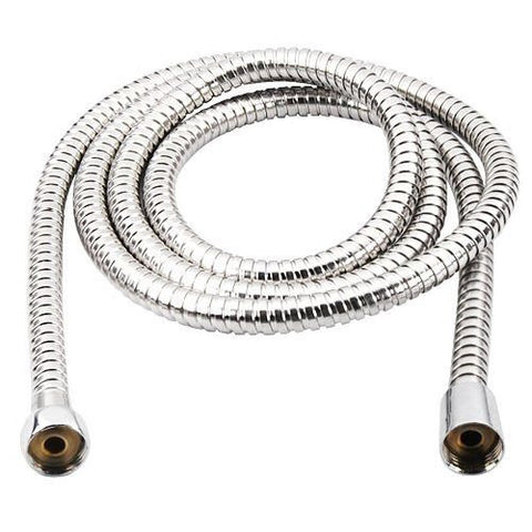 Flexible Stainless Steel Chrome Standard Shower Head Bathroom Hose Pipe Kitchen and Bath Fixtures New 2m eMarkooz(TM)