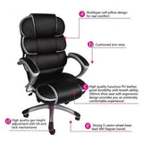 Luxury Executive chair Office Chair Swivel Chair Black and White