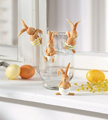 Vase Hanger Bunnies Funny Hanging Rabbits Easter Decoration Home Event Party Decoration Set of 4 Emarkooz