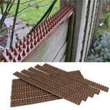 eMarkooz(TM) 10 x BROWN FENCE AND WALL SPIKES POST CAT REPELLENT INTRUDER DETERRENT ANTI CLIMB Home Accessories Garden Bird and Wildlife Care