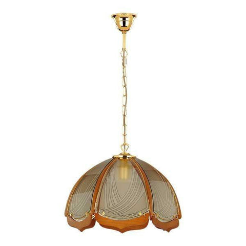 Ceiling Hanging Light, Pendant Flush Lamp Fixture Lighting Indoor Lighting Home Decoration Wood, Steel, Glass Metal