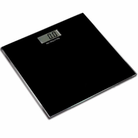 Glass Platform Digital Electronic Glass LCD Weighing Body Scales Bathroom New (Black) Arts and Home Accessories Kitchen eMarkooz(TM)