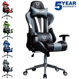 Heavy Duty Sporty chair for Game players Gaming Chair Padded Office chair (Gamer i Grey)