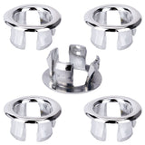 5 Pieces Basin Sink Overflow Hole Drain Trim  Cap Cover Round Replacement (eMarkooz)