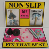 NON SLIP FITTINGS Tool kit FOR FIXING LOOSE TOILET SEAT HINGES M6 Kitchen & Bath Fixtures