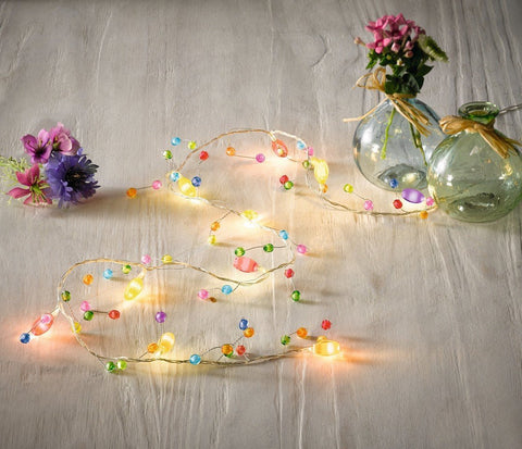 String light Led fairy lights, Indoor Christmas decorations Colorful Beads Amazon