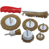 Rotary Wire Brush Set, Metal Cleaning, Cleansing Drill Set, Rust Remover, New Power, Home Garden and Hand Tools,7 Pieces