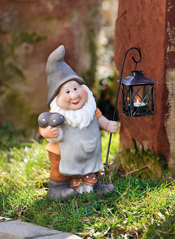 Garden gnome with lantern Amazon