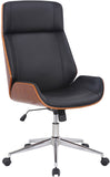 Luxury Walnut black Office chair leather, Executive Furniture