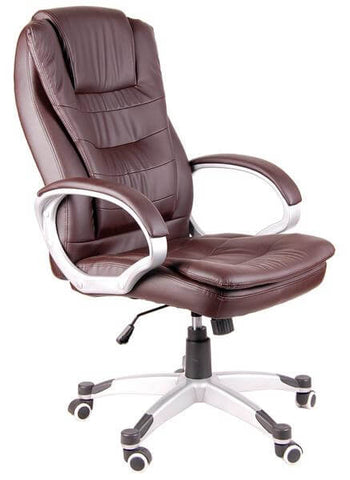 Superieur Manager Chair Executive Chair Office Chair Boss Chair Swivel Leather  Computer Desk Chair Double Cushion