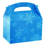 Christmas Party Boxes Food Lunch box Cardboard Gifts box Frozen blue theme