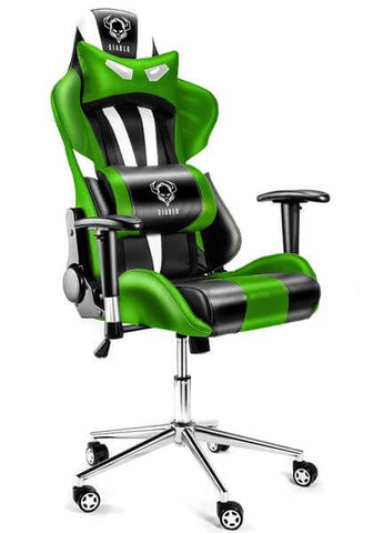 Computer Desk chair for Gaming players Sports Chair Swivel Padded Office chair (Gamer i Green)