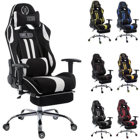 Office chair gaming Chair heavy duty high back chair Fabric Mesh chair with footrest  sc 1 st  eMarkooz & Office chair gaming Chair heavy duty high back chair Fabric Mesh ...