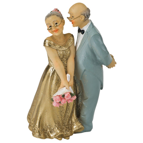 Bride and Groom Wedding Cake Topper, Gold 50th Anniversary Cake Topper Amazon