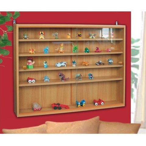 Toys glass Show case display Rack wall hanging cabinet wooden  box cupboard 4 Shelves and Racks Furniture