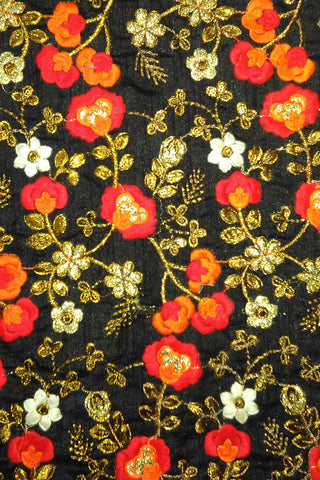 (4 DESIGN) Georgette Embroidered Fancy Fabrics- Lovely Look