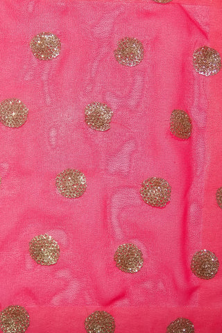 Poly Georgette Embroidery Heavy Fabrics At Wholesale Price