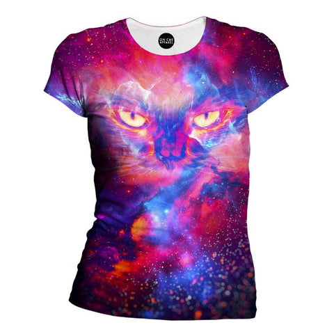 Image of Kitty Universe Womens T-Shirt